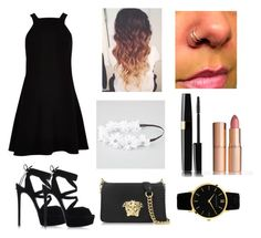 """""""Untitled #472"""" by diamondfoster919 ❤ liked on Polyvore featuring River Island, Full Tilt, Charlotte Tilbury, Casadei, Versace and Larsson & Jennings"""