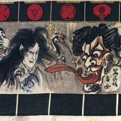 「新富座妖怪引幕」河鍋暁斎 1880 401.0×1704.0cm