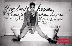 Une image rajeunie grâce à la publicité : Levi's | http://blog.shanegraphique.com/levis/