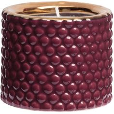 H&M Candle ($6.06) ❤ liked on Polyvore featuring home, home decor, candles & candleholders, burgundy, h&m, burgundy candles, round candles y cranberry candles