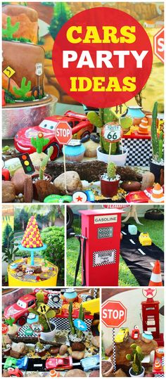 This Cars party has so many incredible details! See more party ideas at CatchMyParty.com