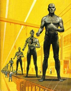 Giant android assembly line by Ed Emshwiller.