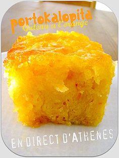 Gâteau grec à l'orange. Orange Pie Recipes, Easy Cake Recipes, Sweets Recipes, Greek Recipes, Greek Sweets, Greek Desserts, Greek Cake, Gateau Cake, Greek Pastries