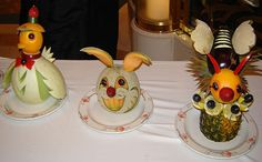 Easter Fruit Carvings