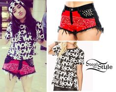 """becky g los angeles cropped t shirt 