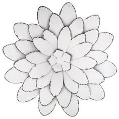 """Shapes & Decorative Wall Pieces  18"""" Colorful Flower Metal Wall Decor  recycled things  Pinterest  Metal Flower Wall Art,…"""