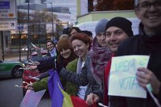 The Voting Revolution in Romania just started! The first Romanian citizen to vote was Dan Coroian-Vlad at the opening of the voting process in Auckland, New Zealand (7:00 am). The Romanians in Munchen and Londra already gathered to vote at the Romanian diplomatic representations. The Picture was distributed by Make a Point