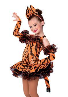 14356 - Tiger Dance #dancecostume #recitalcostume #circustheme