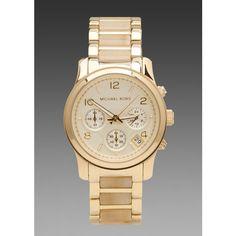 Michael Kors Runway Chronograph Watch in Bone/Gold $250