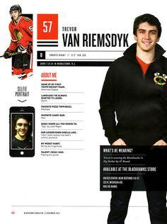 57 // TREVOR VAN RIEMSDYK -  Blackhawks Magazine 2014-15