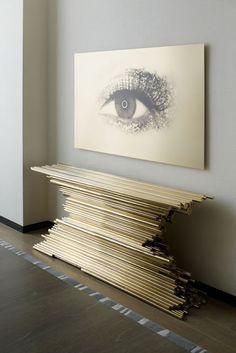 дневник дизайнера: Гламурный футуризм консольных столиков, созданный Эрве ван дер Стратеном