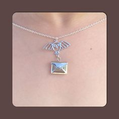 Harry Potter Necklace  Owl Post Necklace~I want this