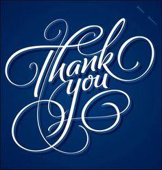 Thank You Greeting Card - handmade calligraphy Thank You Typography, Calligraphy Thank You, Calligraphy Cards, Caligraphy, Calligraphy Alphabet, Thank You Greetings, Thank You Cards, Friendship Quotes Thank You, Happy Birthday Calligraphy