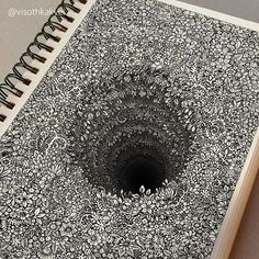 Impossibly Tiny Doodles Fill Sketchbook Pages with Surreal Optical Illusions – Zeichnung , Kritzeleien und mehr Illusion Drawings, 3d Drawings, Detailed Drawings, Pencil Drawings, Amazing Drawings, Optical Illusions Drawings, Flower Drawings, Amazing Artwork, Art Optical