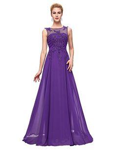 4223d452a7fa4 Women Purple Long Chiffon Maxi Dress Plus Size 20 GRACE K… Adele Dress