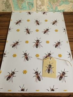 Honey bee, bee, wrapping paper, gift wrap