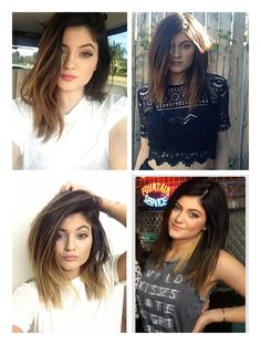 Kylie Jenner's medium/short hair. LOVE IT<3