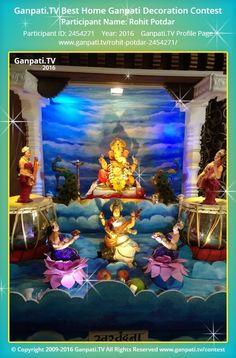 TV where all Ganpati festival decoration pictures and videos are shared. Ganpati Decoration Theme, Gauri Decoration, Ganapati Decoration, Ganesh Chaturthi Decoration, Ganesh Chaturthi Images, Diwali Decorations, Festival Decorations, Ganpati Picture, Ganpati Festival