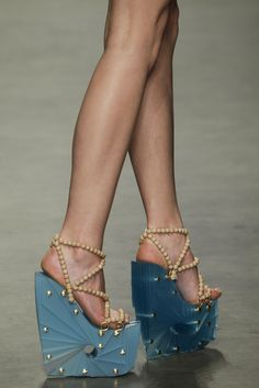 Winde Rienstra Lego Heels Wedges #Shoes. HORRIBLE, you deserve what you get if your wearing these.
