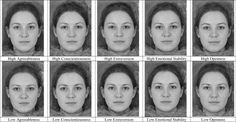 Aggression relates to facial width-to-height ratio, composite facial images