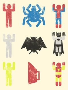 batman spiderman iron man