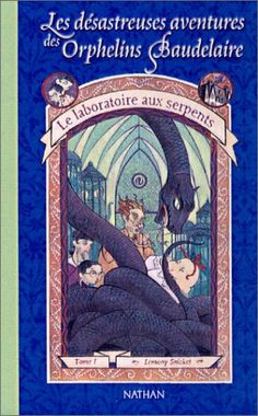 """Les Désastreuses aventures des orphelins Baudelaire, tome 2 : Le Laboratoire aux serpents - Lemony Snicket """"un nouveau foyer pour Violette Klaus et Prunille : ils s'installent chez leur oncle Monty, spécialiste des... serpents ! Cet homme débonnaire et accueillant est devenu célèbre en découvrant la Vipère mort-sûre du Bengale."""" http://petitlien.fr/7l83"""