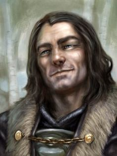 """Benjen Stark by Britt Martin. """"There's not a man on the Wall knows the haunted forest better than Benjen Stark."""""""