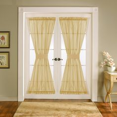 French Door Sheer Curtain Panels For More French Door Curtain
