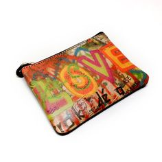 Colorful Love Leather Coin Purse, $22, now featured on Fab.