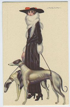 "art deco dog pictures | Barbara Barth ""Writer With Dogs"": Fashion and Dogs, Art Deco Ladies ..."