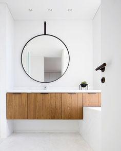 "2,729 curtidas, 33 comentários - Scandinavian Colour + Design (@designstuff_group) no Instagram: ""// Our FAVOURITE mirror for ANY Bathroom is a round one :) ✔️✔️✔️ Design by…"""