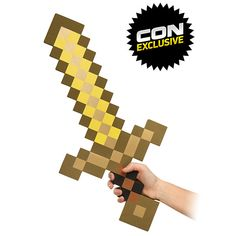 Minecraft Foam budder Sword  The origional statement on this pin is above. It's Butter or gold, not budder.