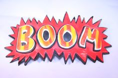 BOOM Pop Art Hair Clip Fimo Polymer Clay by katkraftuk on Etsy, £5.00