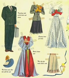Big Big Cut Out Book pieced together - Bobe Green - Álbumes web de Picasa Doll Clothes Patterns, Clothing Patterns, Bride Suit, Bobe, Bride Dolls, Vintage Paper Dolls, Crafts For Girls, Retro Toys, Printable Paper