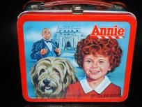 Vintage 1981 Little Orphan Annie Aladdin Metal Lunch Box WithThermos Free Shipping!!
