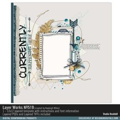 Layer Works No. 519- Studio Double-D Templates- LT212300- DesignerDigitals