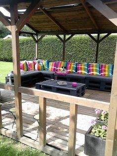 Pallet Terrace Garden Ideas Recycled Pallets