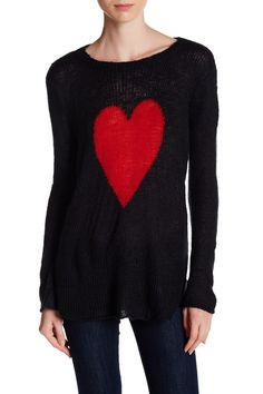 Wooden Ships Heart Crew Neck Sweater