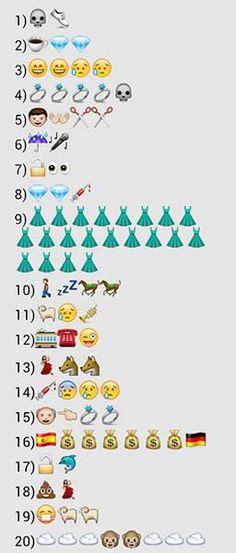 trivial de cine con los emoticones del whatsapp