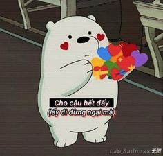 Gấu We Are Bears, Ice Bear We Bare Bears, Love Life Quotes, Sad Quotes, Girl Quotes, Story Quotes, Status Quotes, Funny Blogs, Funny Memes