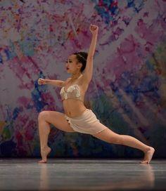 "Delicate, ""nudes"" custom contemporary dance costume."