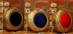 Gold #Metal #Clutches With #Black,#Blue and #Red Stones by #Anjali jain