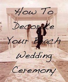 # Beach Wedding-beach wedding ceremony decor