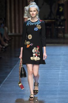Dolce & Gabbana Spring 2016 Ready-to-Wear Fashion Show - Aneta Pajak