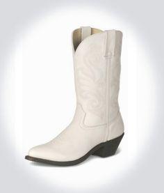 Women's Acme size 7-7.5 white cowboy boots | Cowboys, White cowboy ...