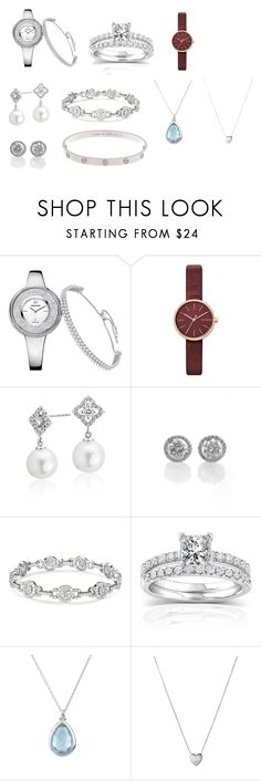 """Украшения классика"" by yaruti on Polyvore featuring мода, Skagen, Blue Nile, Annello и Links of London"