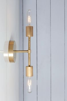 Outdoor Wall Sconce, Outdoor Wall Lighting, Wall Sconce Lighting, Lighting Ideas, Brass Bathroom Sconce, Bathroom Light Fixtures, Brass Sconce, Modern Wall Sconces, Dining Chandelier