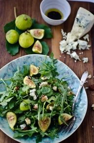 Arugula, Fig & Blue Cheese Salad | Recipe here: http://www.eat ...
