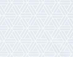 Medina Wallpaper A geometric wallpaper with an interlocking triangular pattern printed in powder blue.
