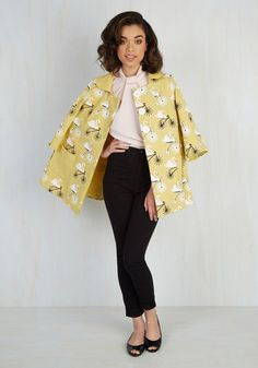 Going, Going, Swan Coat in Dijon | Mod Retro Vintage Coats | ModCloth.com